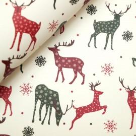 Papier tassotti motifs noel rênes verts et rouges