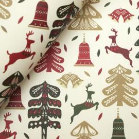 Papier tassotti motifs noel sapins rênes cloches
