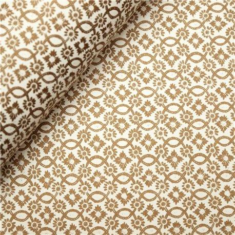 Papier tassotti motifs noel doré
