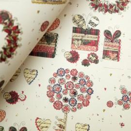 Papier tassotti motifs paquets cadeau