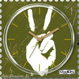Montre Stamps cadran de montre green peace