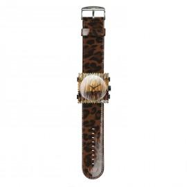 Bracelet de montre Stamps shinny leo marron