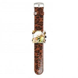 Bracelet de montre Stamps shinny leo orange