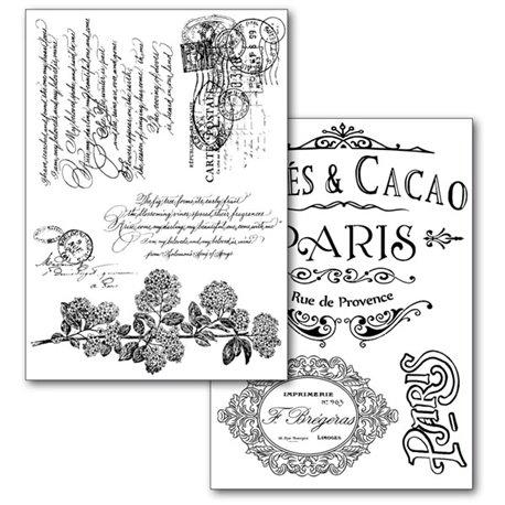 Motifs décoratifs Paris papier transfert