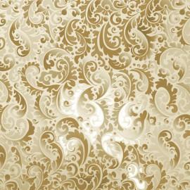 Papier scrapbooking arabesques doré