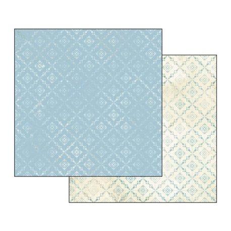Papier scrapbooking réversible losanges azur