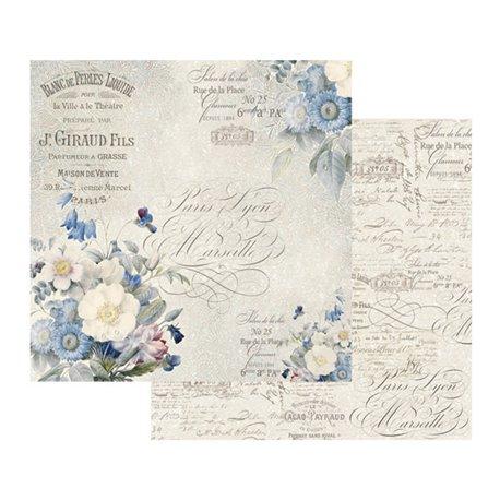 Papier scrapbooking réversible bouquet anglais
