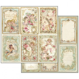 Papier scrapbooking réversible cartes anges -SUP