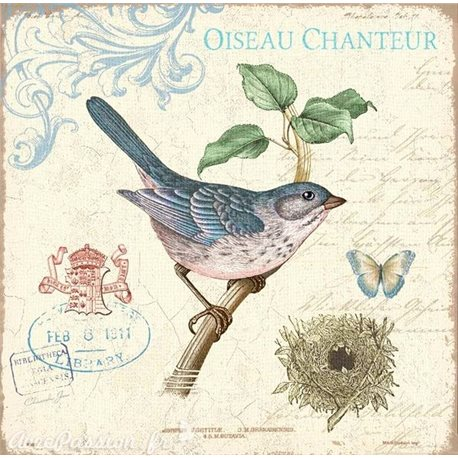 Carte d'art oiseau chanteur Christopher James