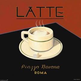 Carte d'art Latte piazza navona Marco Fabiano