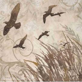 Carte d'art envol d'oiseaux 2 Melissa Pluch