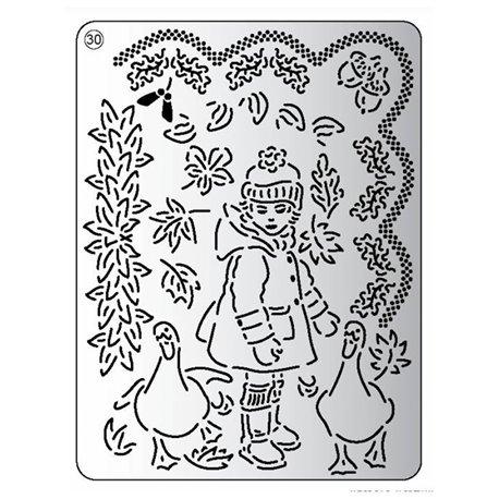 Pergamano mini grille embossage ciselage 30 garçon d'hiver 71030