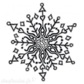 Tampon cling spellbinders flocon de neige 3D