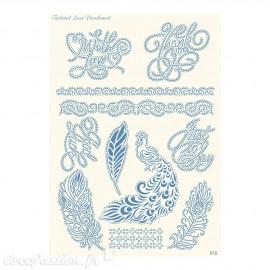 Grille parchemin Tattered Lace Parchment plumes