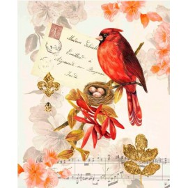 Carte d'art oiseau Regal Cardinal Coleen Sarah