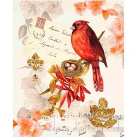 Carte d'art oiseau Regal Cardinal Coleen Sarah