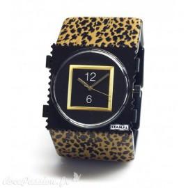 Bracelet élastique de montre Stamps belta leo marron