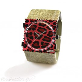 Bracelet élastique de montre Stamps belta doré structuré