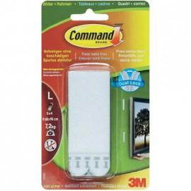 Accroche tableaux Command sans trou 3M blanc 8 languettes L 7.2kg