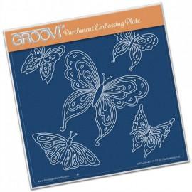 Gabarit tracage du parchemin papillons Groovi