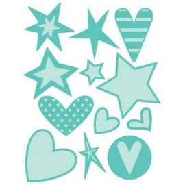 Dies découpe étoiles et coeur Cuttelbug