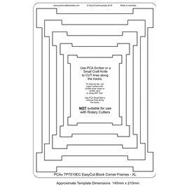 Gabarit easycut PCA coupe le parchemin cadres coins décalés XL