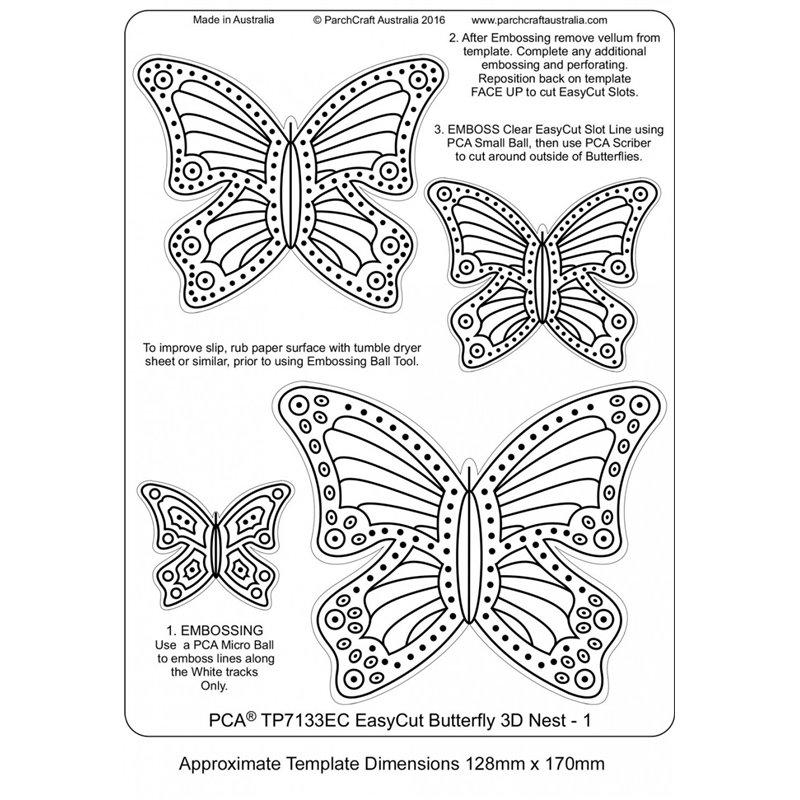 Gabarit Easycut Pca Coupe Le Papier Parchemin Avec Motif Papillon 3d