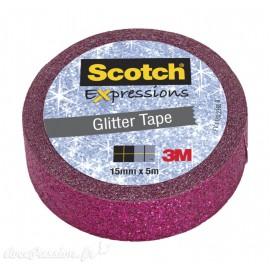 Masking tape glitter paillette rose