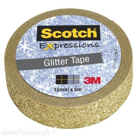 Masking tape glitter paillette doré