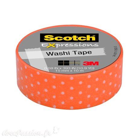 Masking tape orange à pois