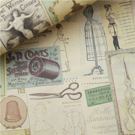 Papier italien motifs couture 50x70