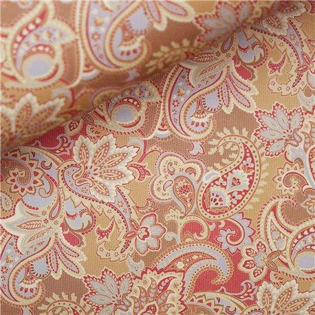 Papier italien motifs cachemire orange