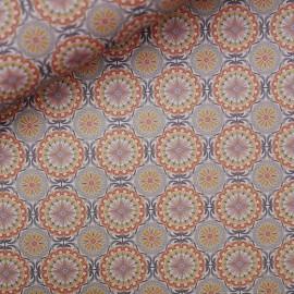 Papier italien motifs moresco orange et bleu