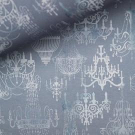 Papier italien motifs lustres bleu