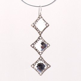 Boucles d'oreilles pendantes percées cristal strass Swaro Kenny Ma -
