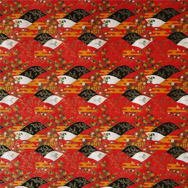papier origami papier japonais washi ondulation rouge. Black Bedroom Furniture Sets. Home Design Ideas