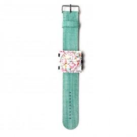 Montre Stamps bracelet de montre vert menthe denim