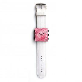 Bracelet de montre Stamps denim blanc