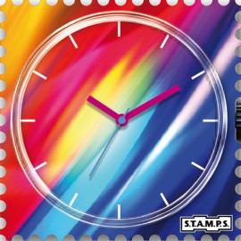 Montre Stamps cadran de montre moving fast