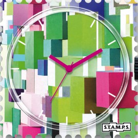 Montre Stamps cadran de montre colour cube