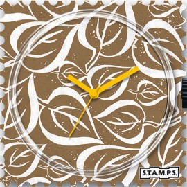 Montre Stamps cadran de montre leaves