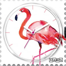 Montre Stamps cadran de montre pink feathers