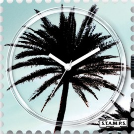 Montre Stamps cadran de montre palm tree