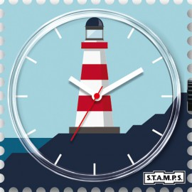 Montre Stamps cadran de montre sea light