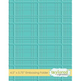 Classeur gaufrage embossage motifs plaid taylored expressions 1p
