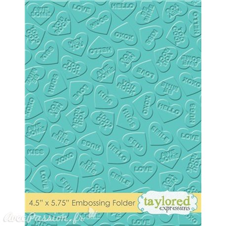 Classeur gaufrage embossage motifs coeurs taylored expressions 1p