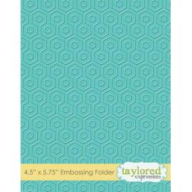 Classeur gaufrage taylored fond motifs double alvéoles