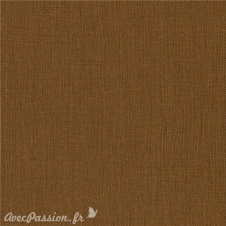 Papier simili toile balacron nomad marron terre de sienne