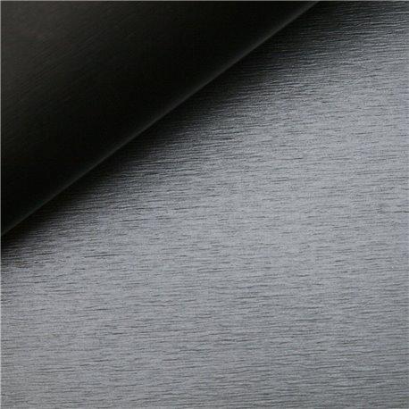 Papier simili métal brossé titanium 50x68cm corvon