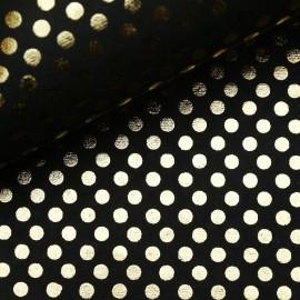 Papier indien points doré sur noir